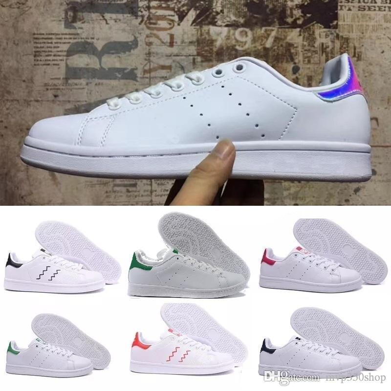 Brand Top quality women men new stan shoes fashion smith sneakers casual leather sport Casual shoes