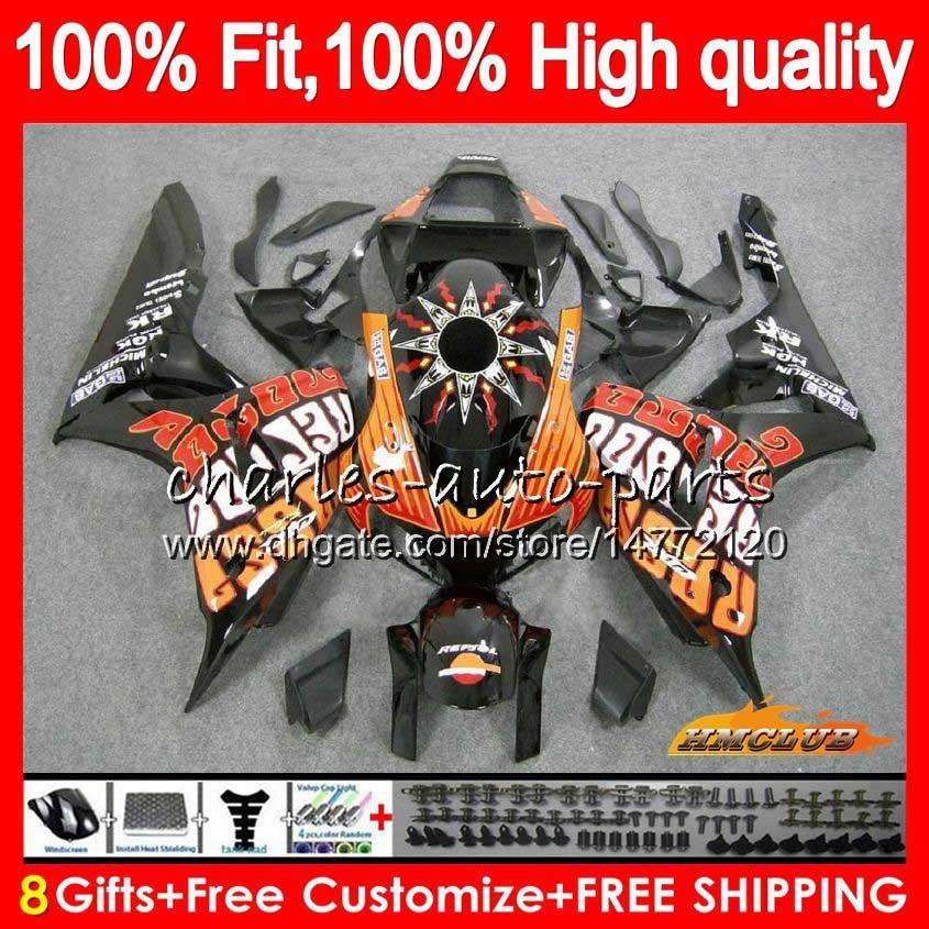 Injection OEM For HONDA CBR 1000CC 1000 RR 06 07 Body 78HC.6 Repsol orange CBR1000 RR CBR 1000RR CBR1000RR 06 07 2006 2007 100%Fit Fairing