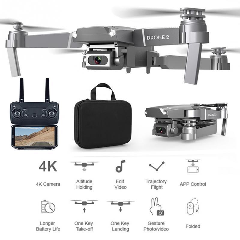 بدون طيار HD زاوية واسعة 4 كيلو واي فاي 1080P FPV بدون طيار فيديو تسجيل مباشر quadcopter ارتفاع للحفاظ على كاميرا بدون طيار VS E58 شحن مجاني