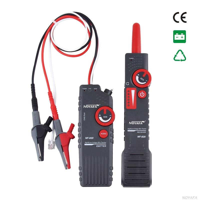 Freeshipping New NF-820 RJ45 RJ11 BNC Tester High & Low Voltage Cable tester Underground Cable Finder Anti-Interference Wire Tracker