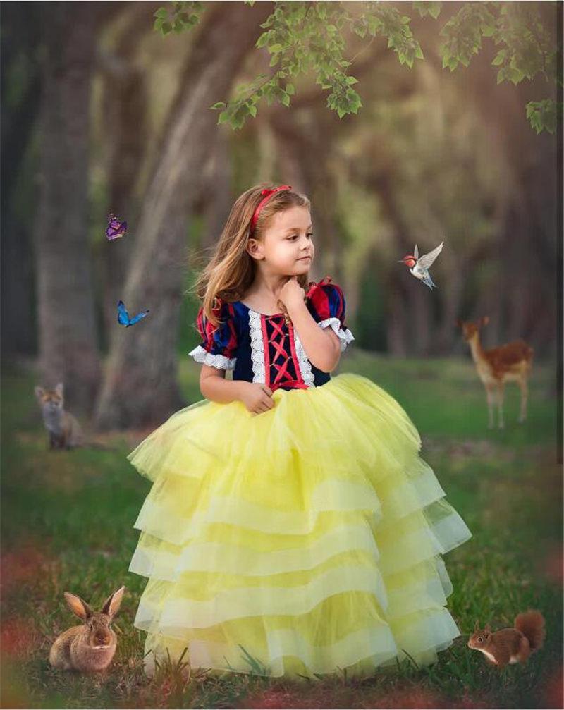 نفخة كم غزل التنورة صيف جديد الترتر القوس الكبير للأطفال تنورة الطفل فستان سهرة الكرة ثوب حورية البحر
