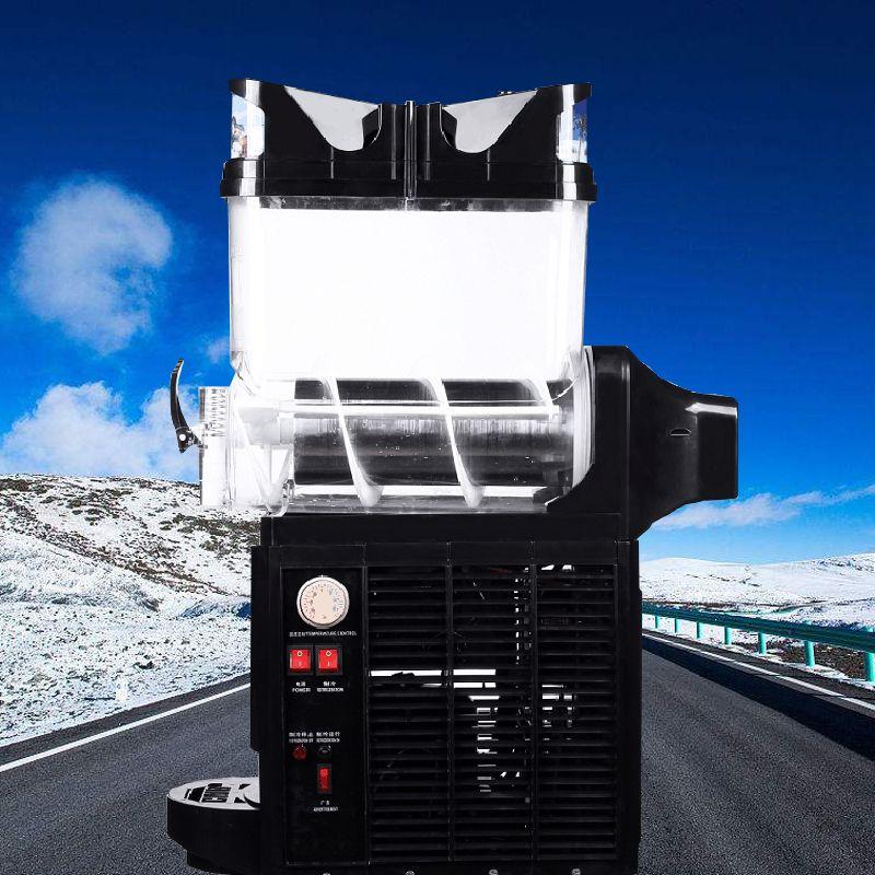Yüksek verim otomatik tek silindirli kar kalınlığı makinesi yüzlü karıştırma suyu makine ticari kar eritme makinesi düşük p satışa
