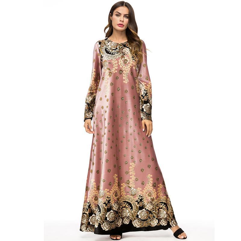 BAE abayas İçin Kadınlar Kış Kaftan Katar Bangladeş Kadife Müslüman Hicap Elbise Kadınlar Jilbab Robe Dubai Türk İslam Giyim