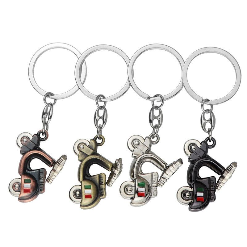 3D Keychains Women Electric Bicycle Keyrings Fashion Men Charm Metal Key Rings Jewelry Fashion Car Key Chain for Girls Cheap Promotion Gift