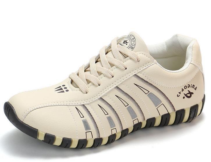 Kadın spor ayakkabıları spor ayakkabıları kadın kadar Moda Çizgili Dantel iskarpin Kadın eğiticilerin Rahat Boyut Sağlam Sole Running