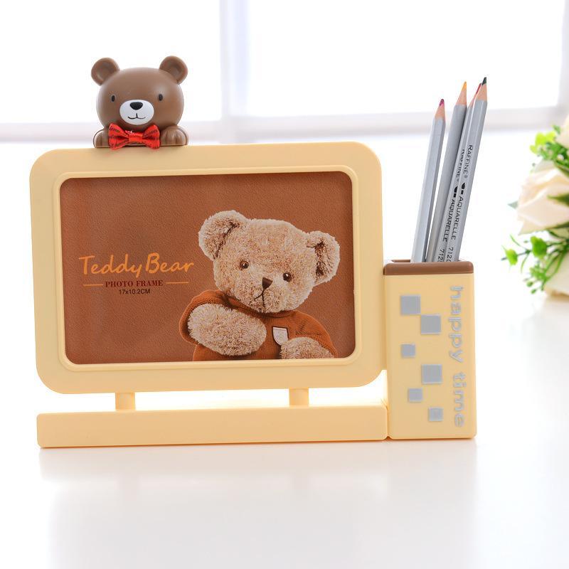 6 Inch Photo Frame Little Bear Pen Holder Cartoon Picture Frames