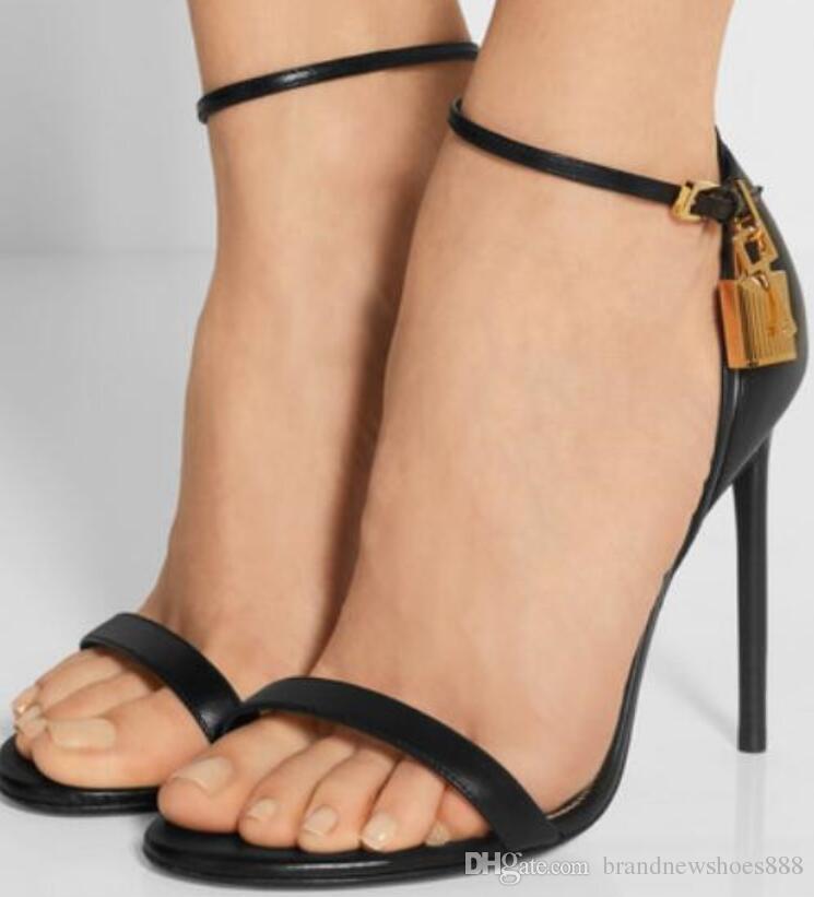 2019 mode frauen lockkey sandalen knöchelriemen high heels party schuhe sexy gladiator sandalen schwarz leder sommer sandalen
