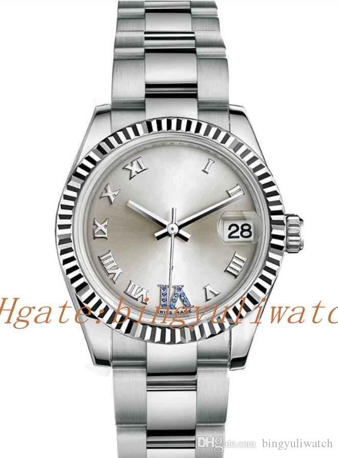 Super Fabbrica Date Just 178.279 31 millimetri Caso Best Edition Silver Dial Marker romana sul bracciale in acciaio inossidabile A.2836 scatola originale