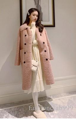 Frete Grátis Nova Chegada Venda Quente Especial de Moda Feminina Coreano Versão Rosa Inverno Elegante Nobre Grosso Veados Cordeiro Casaco de Algodão