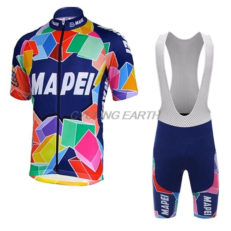 MAPEI 2020 Летний Велоспорт Джерси Мужчины с коротким рукавом Костюм рубашка комплект одежды Одежда Биб шорты велосипедов дышащий Sportwear