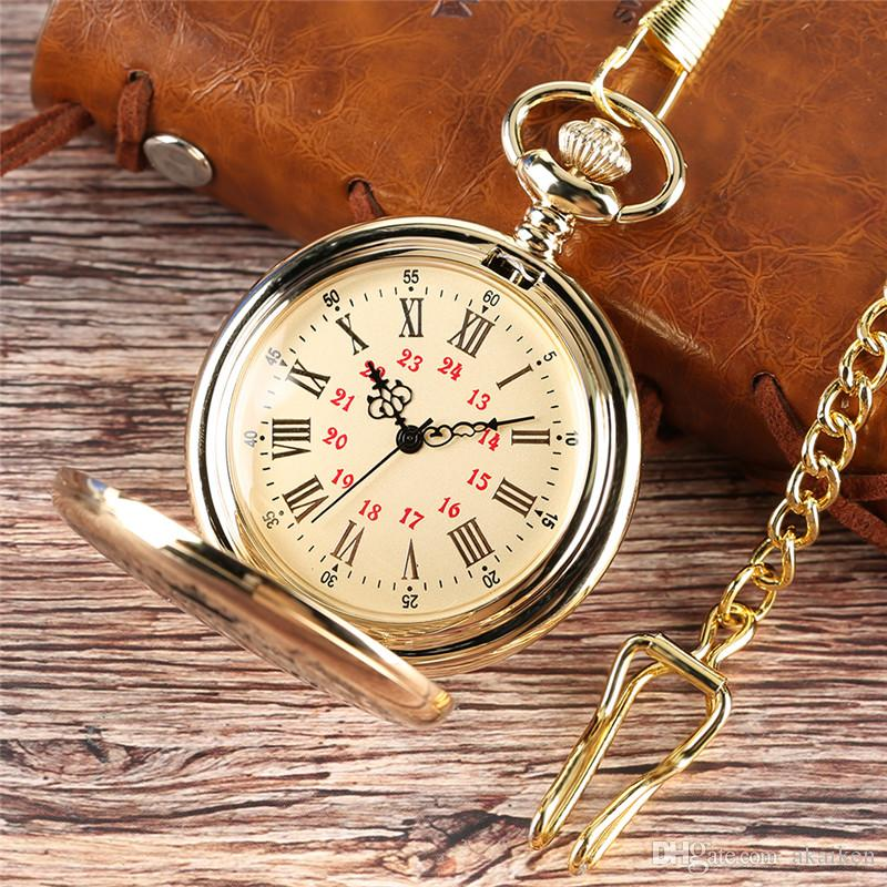 "Cadena de oro niños ""para vintage My Colgante Boy Word Men Laser Son"" Children Pocket Watch Analog Silver Cuarzo Relojes Negros Regalos XBFXW"