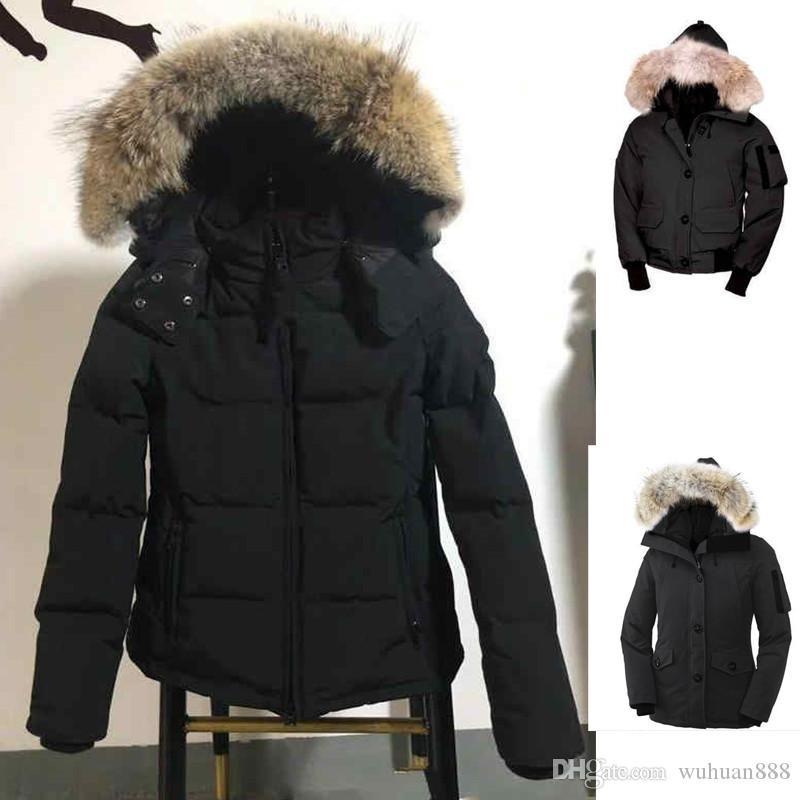 Femmes Warmcoat Designer Veste d'hiver Manteaux d'hiver de luxe femmes Designer Femme Goose Doudoune Sous-vêtements Vestes femme loup fourrure