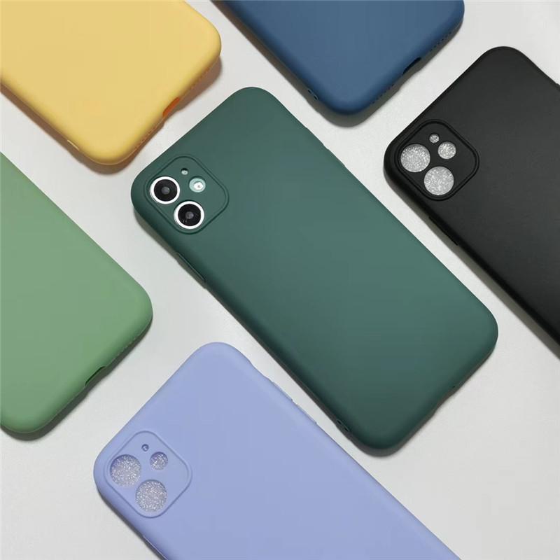 Süßigkeit-Farben-Silikon-Telefon-Kasten für iPhone 11 Pro Max New Upgrade Protection Kamera weicher TPU rückseitige Abdeckung Shell für Iphone xr