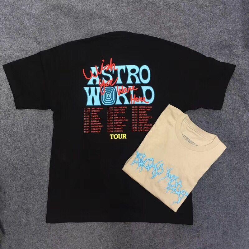 Travis Scott Astroworld Festival Pop Up maglietta 2019 Travis Scott Astroworld T-shirt XXXTentacion Uomo Donna migliore qualità tee