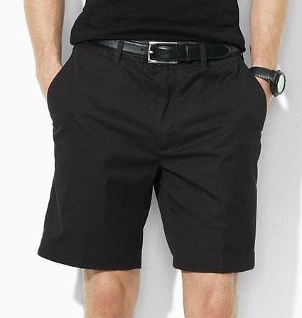 New États-Unis Hommes Polo Shorts Petit poney Broderie coton d'été classique garçons de plage Pantalons solide S-tronc court 2XL Blanc Noir Bleu marine