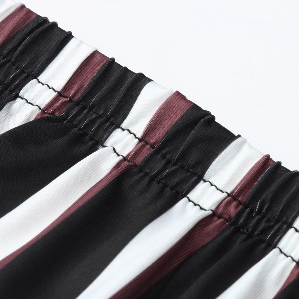 maternidade LONSANT Pants Mulheres Seamless Imprimir listrado leggings cintura alta estiramento Calças Gravidez moda Maternidade Leggings