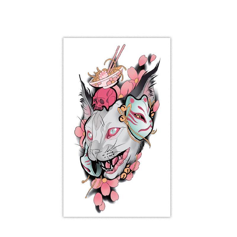 القط المؤقتة الوشم 3d للماء ملصقات الوشم الحيوان الذراع الساق أزياء نمط هيئة الفن القابل للماء الوشم الفن ملصق HHA344