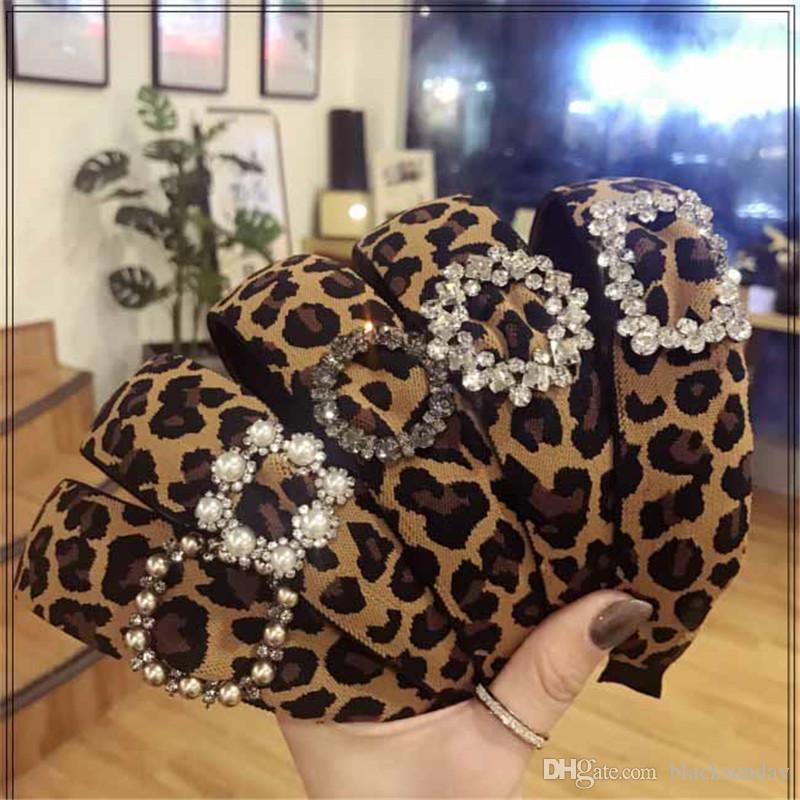 Diademas de leopardo sexy con perla Crystal Tide Brand Party Hair Band Alta calidad al aire libre Sports Hair Hoop para damas