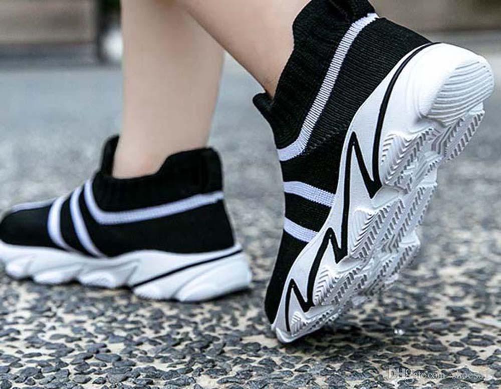 Top Qualité Classique Sneaker Chaussures enfants Mode intelligent chaussures triple pour enfants plate-forme chaussures en cuir air chaussures shoes011 PX225