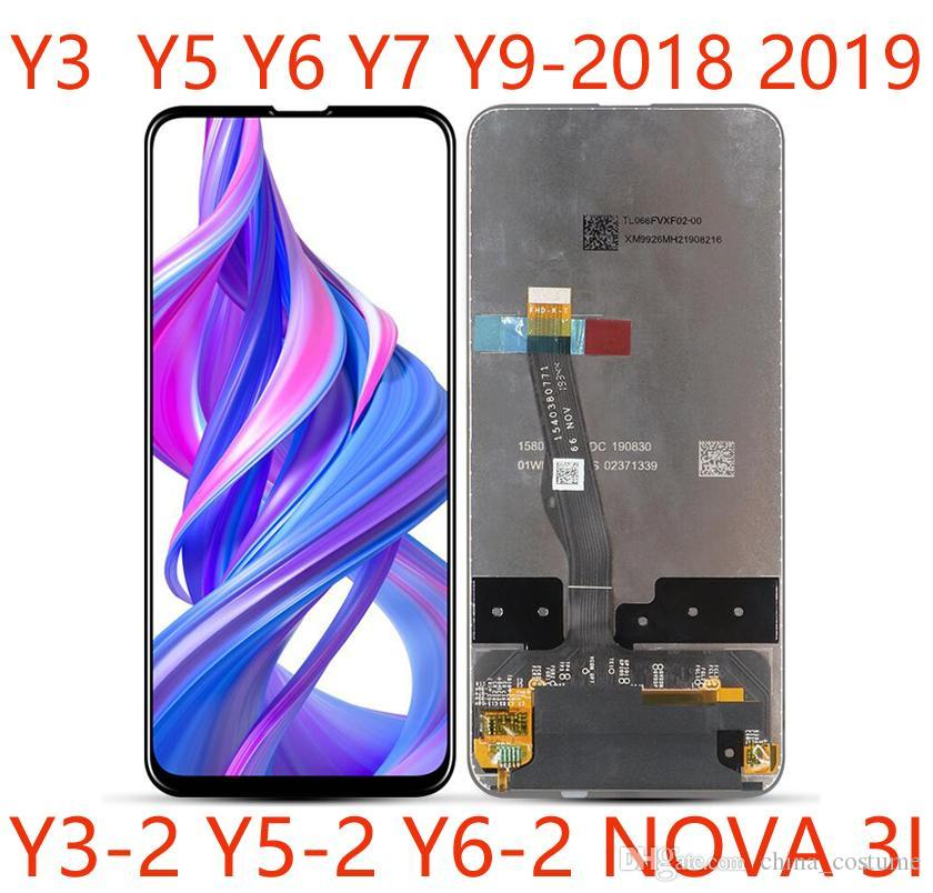 50pcs High-Quality Mobile Phone LCD Touch Screen Assembly panels For Huawei Y3 Y5 Y6 Y7 Y9 2017 2018 2019 Nova 3i Repair And Replacement DHL