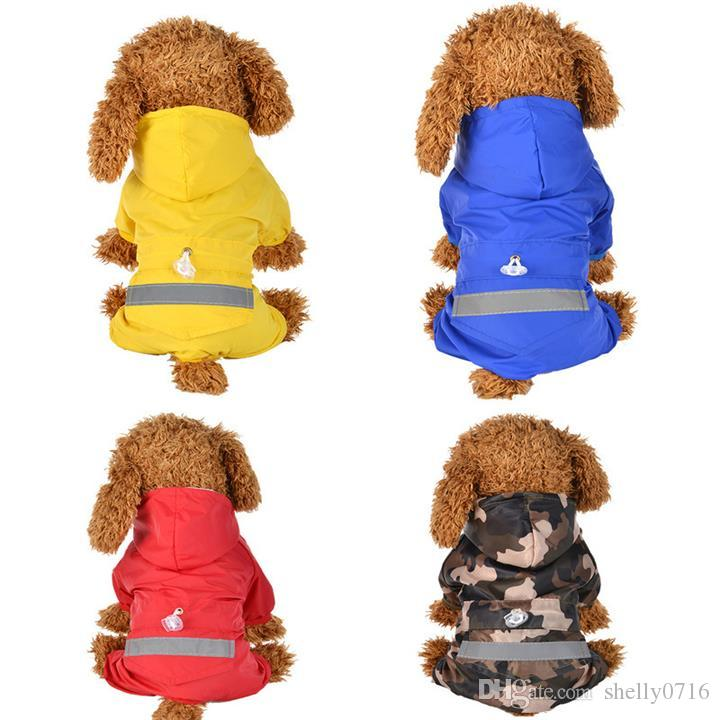 Summer Outdoor Puppy Pet Rain Coat Casual Waterproof Jacket Raincoat for Dogs Cat Reflective Waterproof Apparel Rainwear Cloth