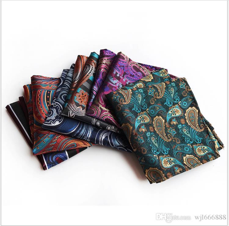 lenço dos homens, toalha quadrada, moda poliéster, Paisley, Huahui bolso do terno toalha