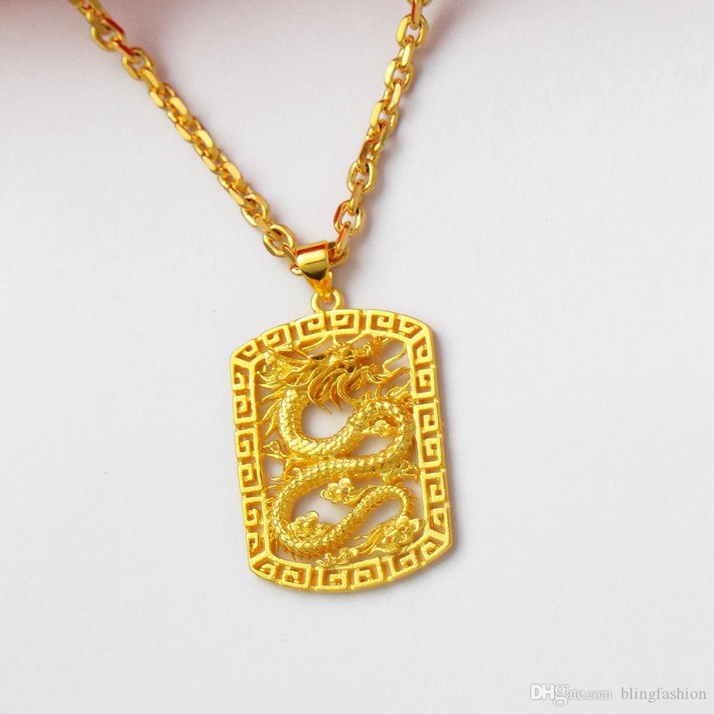 """Women/'s Mom Gift Necklace Pendant 18k Yellow Gold Filled 18/""""Link Fashion Jewelry"""