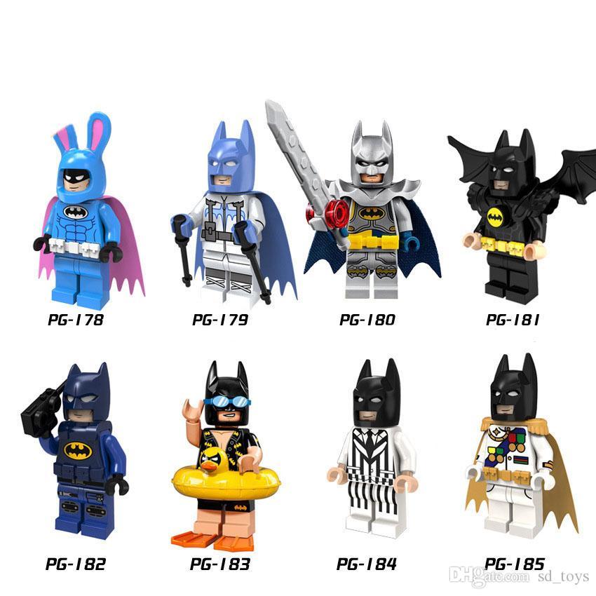 Супер Герои отпуск Catwoman Joker Swim Кролик черный белый костюм Бэтмена игрушки для детей PG8047