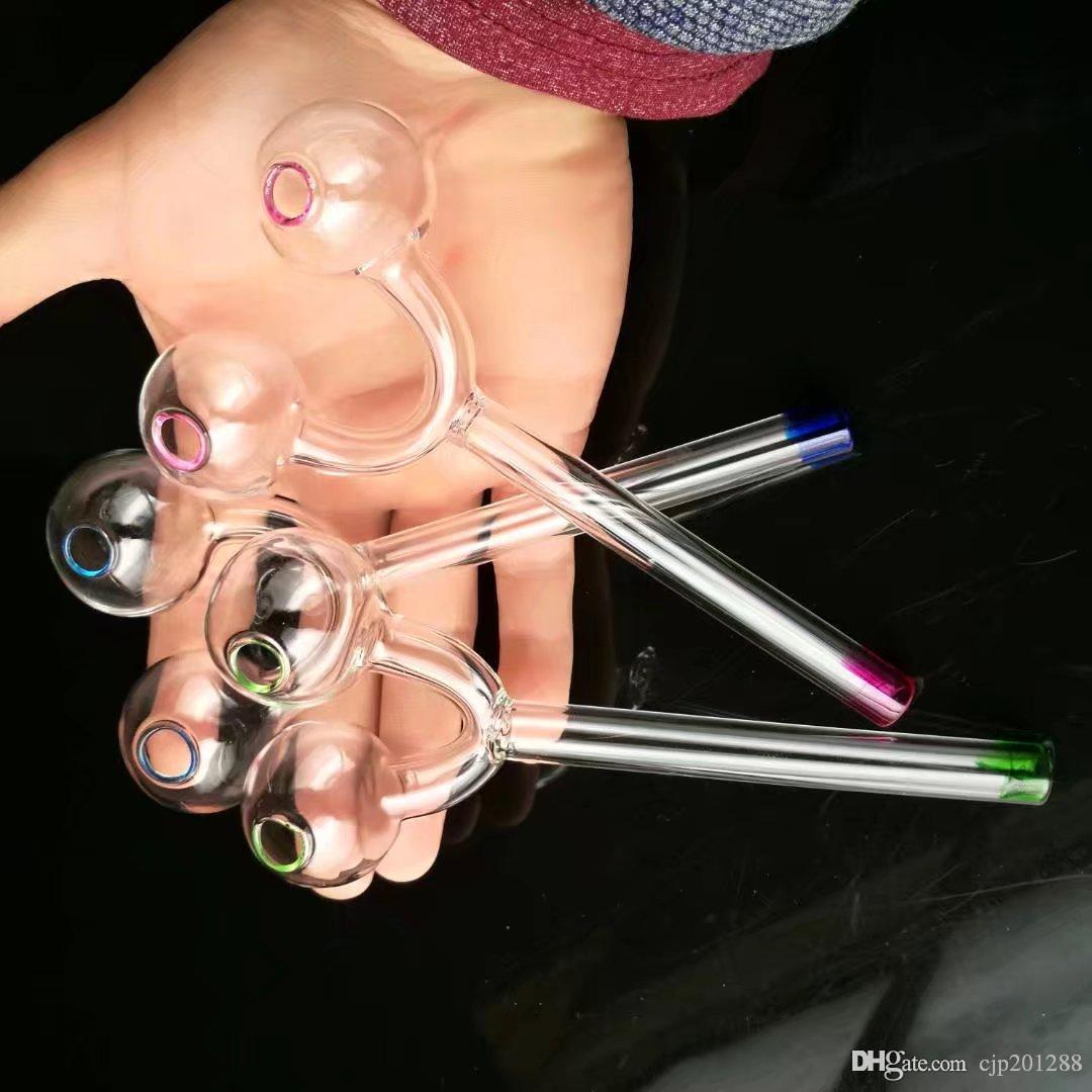 Горшок рогатки, Оптовые стеклянные бонги, стеклянный кальян, принадлежности для дымовых труб