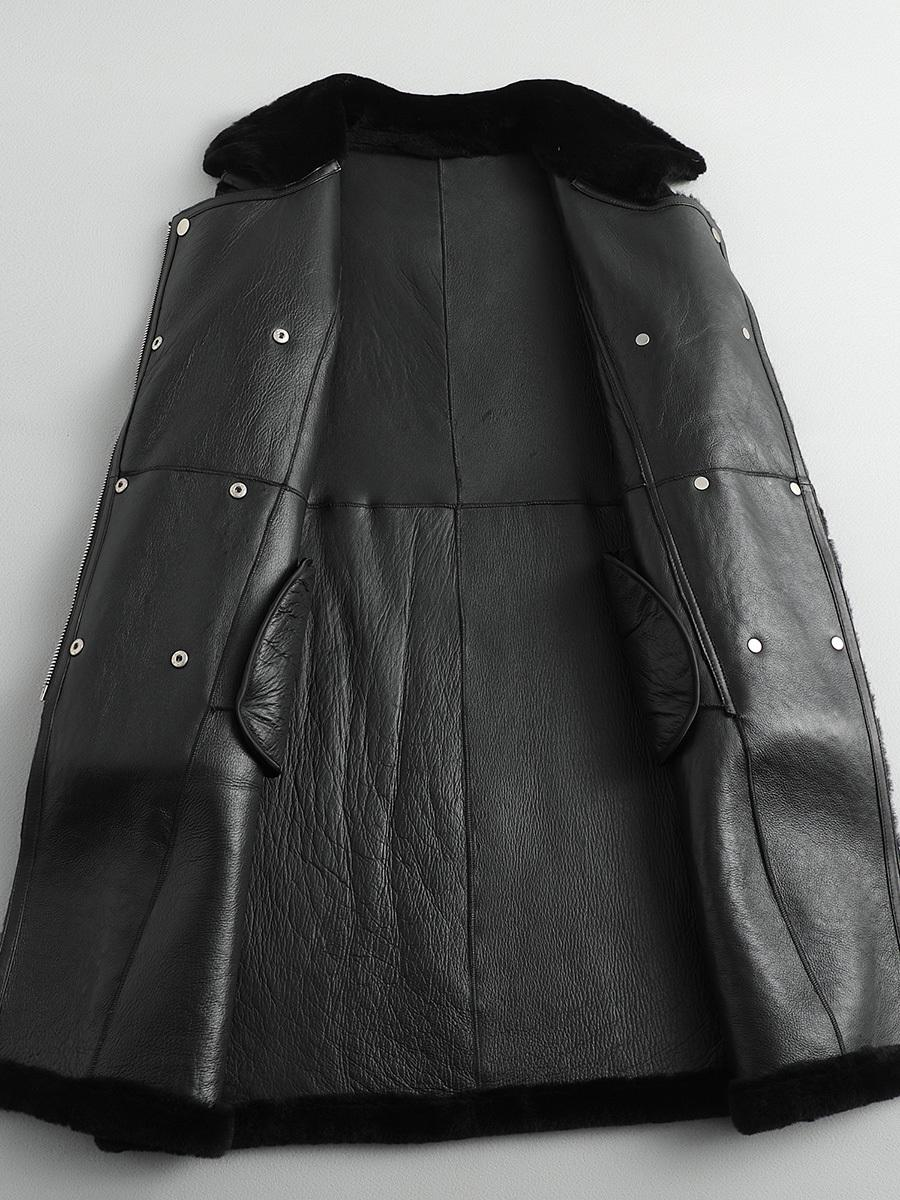Autumn Winter Coat Women Clothes 2020 Korean Vintage Natural Real Fur Coat Female Genuine Leahter Jacket Double-faced Fur Tops