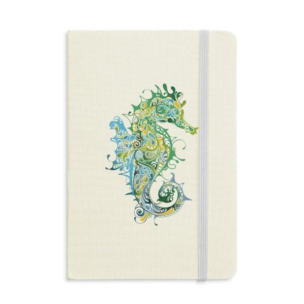Красочный Гиппокамп Морской Жизни Шаблон Ноутбук Ткань Твердая Обложка Классический Журнал Дневник A5