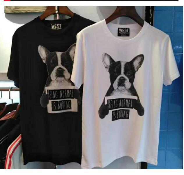 Marea hip hop marca sueltos los hombres y mujeres de la moda de algodón de los hombres europeos y americanos temperamento mangas cortas pareja de jóvenes camiseta