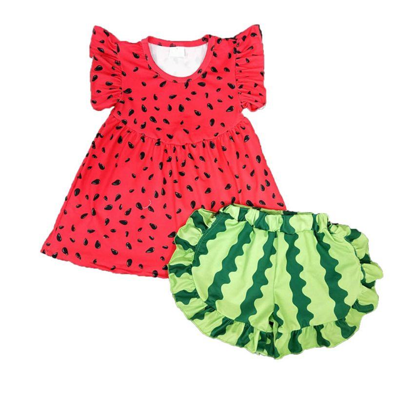 Il nuovo disegno scherza i vestiti di estate Outfits per le ragazze boutique di abbigliamento Little Girls Abito corto Suit Pant bambino attrezzature del bambino 3M-16T