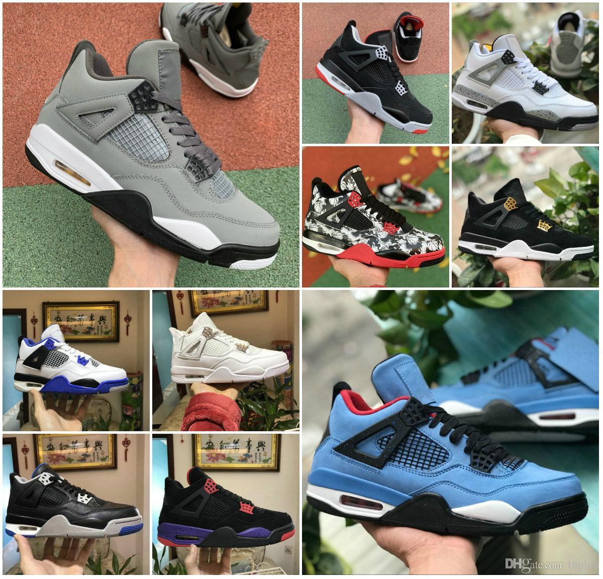 2020 yeni 4s SAF PARA Motorsport Siyah Kızılötesi NRG Raptors basketbol ayakkabıları Siyah Beyaz Çimento Graffiti Cactus Mens 4 Royalty Sneaker yetiştirilen