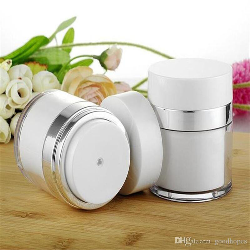 15ml 30ml 50ml Cosmetic Jar Empty Acrylic Cans Vacuum Bottle Airless Refillable Container Lotion Pump Bottle