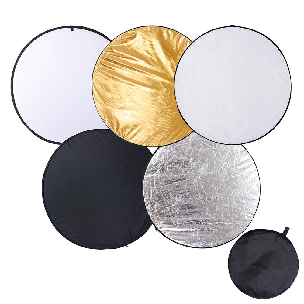 """AW 43"""" 110cm Collapsible Light Reflector Panel Diffuser with Bag Photo Video Studio Gold silverBlack Portable"""