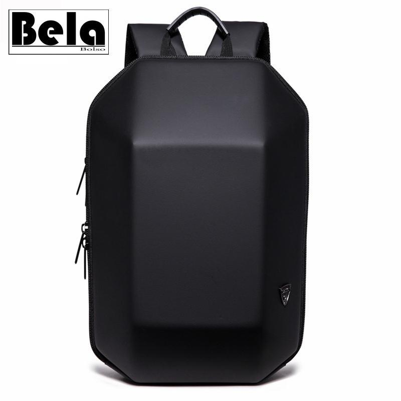 BelaBolso Hard Shell Design Backpack Man USB Charging Laptop Backpack Male Fashion Travel Bags New School Bag Waterproof HMB699