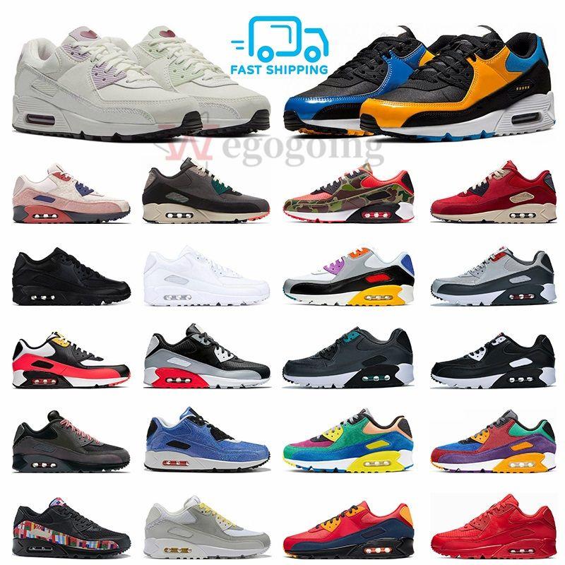 Nike air max 90 Nuovo Camo Premium Olimpiadi scarpe da corsa Be True Viotech Mixtape Mars Landing Camowabb 90s mens formatori Donne Sport Outdoor scarpe da tennis
