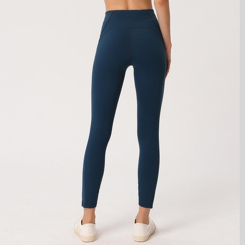 INSPK Leggings Sport Donne fitness elastico a vita alta pantaloni di yoga nylon + spandex di 4 colori palestra vestiti per la ragazza Gym Training