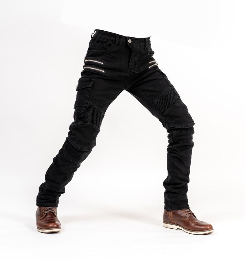 2019 nouveaux jeans pour hommes et femmes en plein air d'équitation jeans zippés moto course anti-chute pantalon plaquettes cadeaux