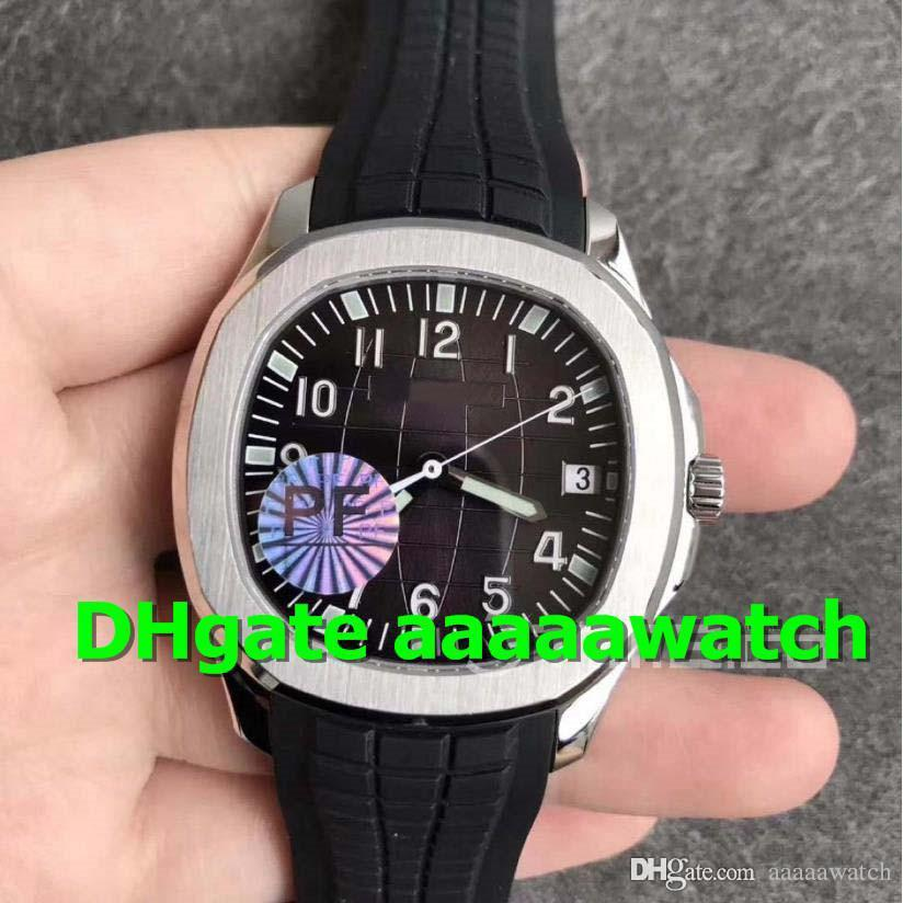 PF New Mens Wristwatch 5167A-001 Mens Watch 316L Stainless Steel Case Swiss 324 Automatic Watch Sapphire Crystal Black Rubber Strap