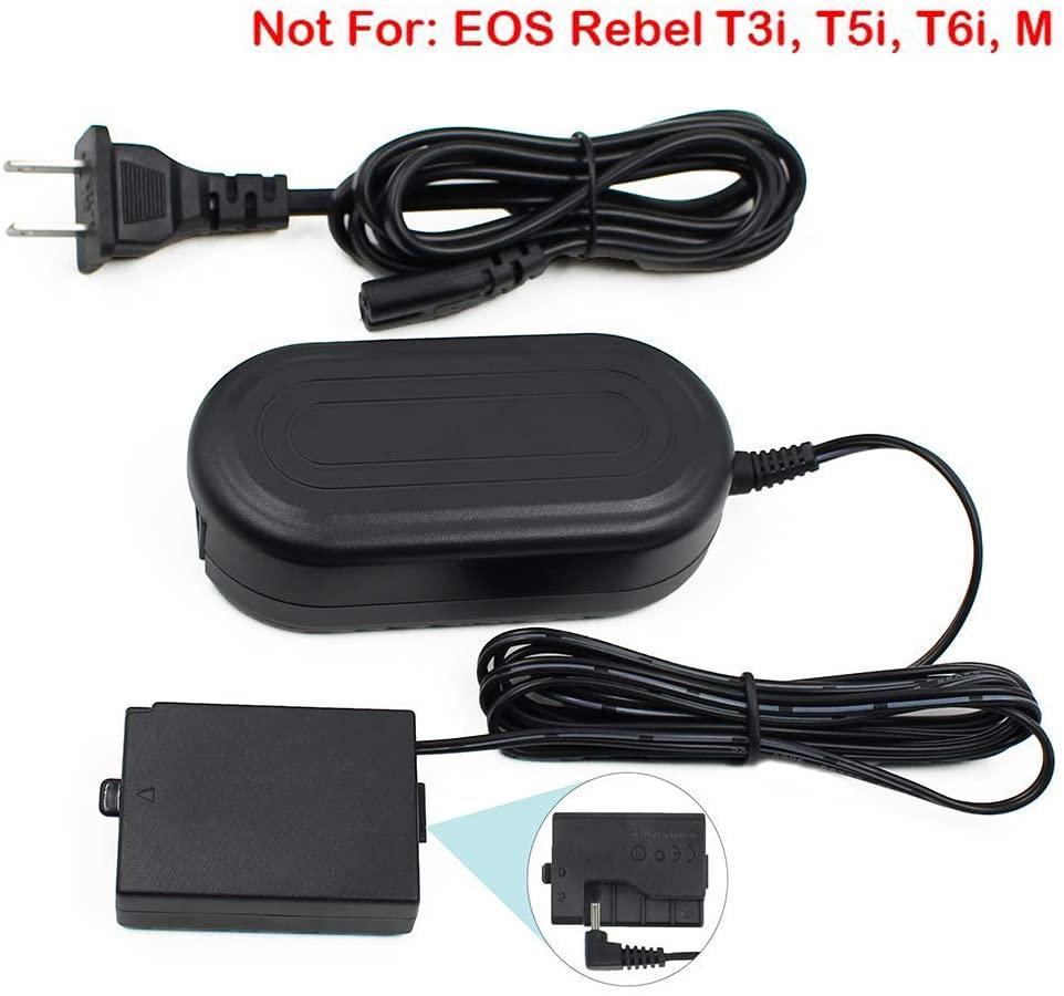 ACK-E10, FlyHi ACK-E10 AC Power Adapter DR-E10 Acoplador DC Charger Kit (substituição para LP-E10) para Canon EOS Rebel T3, T5, T6, T7, T100