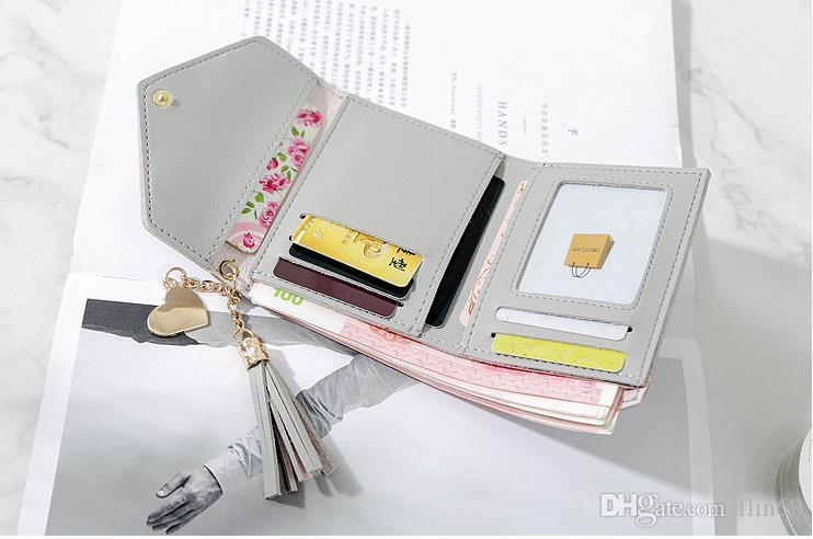 جلد ناعم المرأة غلق بمشبك المحفظة أزياء ثلاثي أضعاف مخلب للفتيات حاملي بطاقة عملة محفظة حقيبة المال