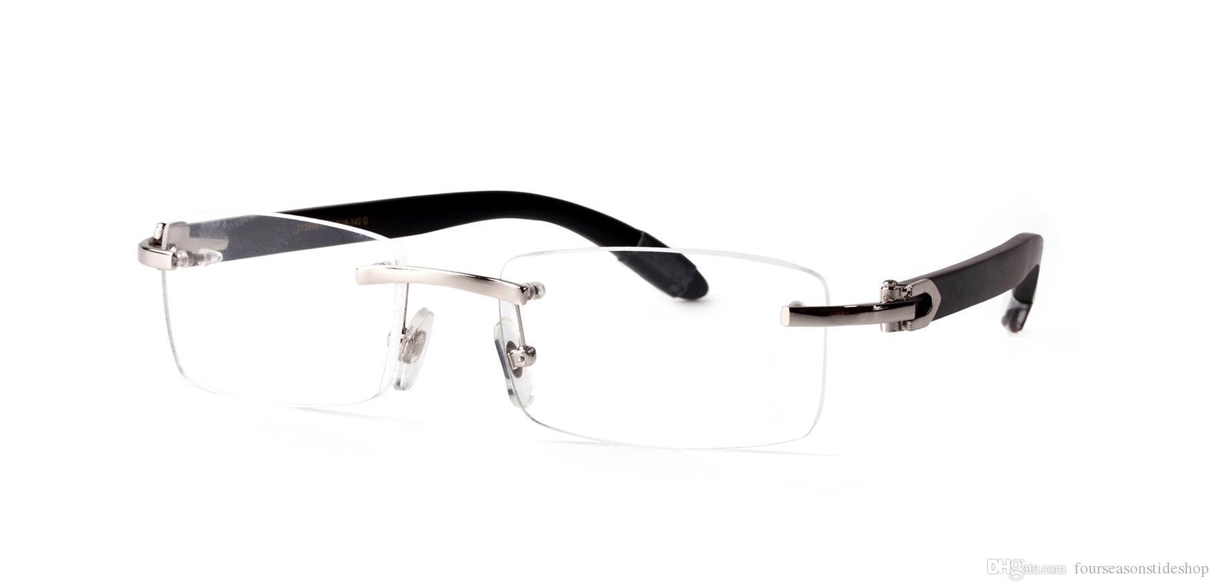 2020 الأزياء ونظارات شمسية الرجل قرن الجاموس نظارات شمسية الخشب الرجعية للمرأة أسود اللون البني العدسات واضحة اللون بدون شفة النظارات القيادة