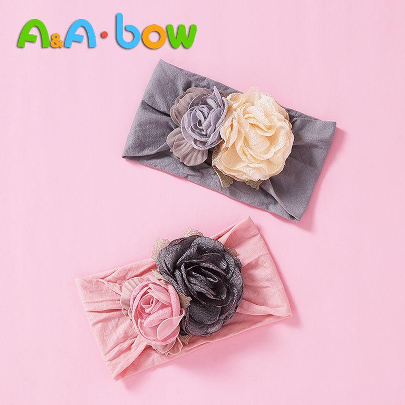1PC Cute Baby Headwear Boys Girls Hair Band Bow Headbands knitting Hairband Gift