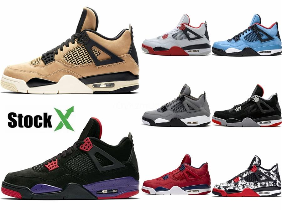 New 2020 Bred Cement 4 4S What Cactus Jack Grey Hococal Basketball Shoes 11 14S Concord 45 Pure Money Royalty Men Sport Sneakers #879