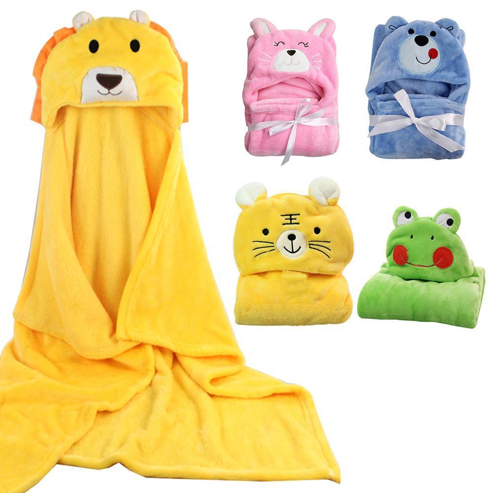 علاوة الطفل منشفة حمام الحيوان لطيف الشكل كيد مقنع الطفل تلقي بطانية الطفل منشفة حمام منشفة عباءة حديثي الولادة