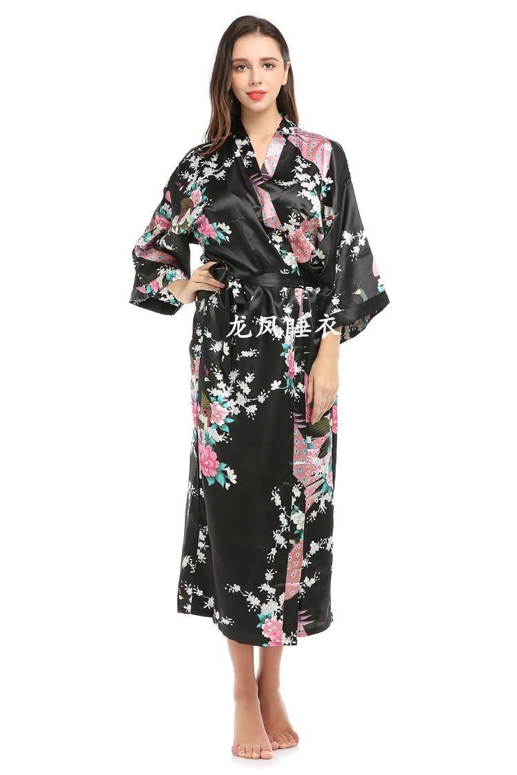 Tokyo Fashion Japan National Trend Women Sexy Kimono Yukata Novelty Evening Dress Japanese Cosplay Costume Bath Floral gown robe