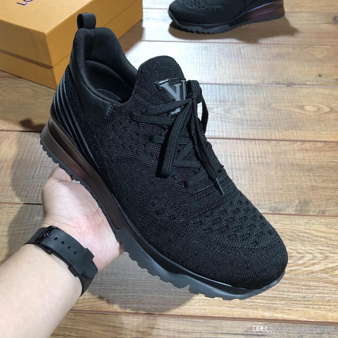 louis vuitton Lv Sport de haute qualité Chaussures de sport Chaussures Hommes Hombre luxe Chaussures à lacets Prix doux chute de la taille du navire 38-45