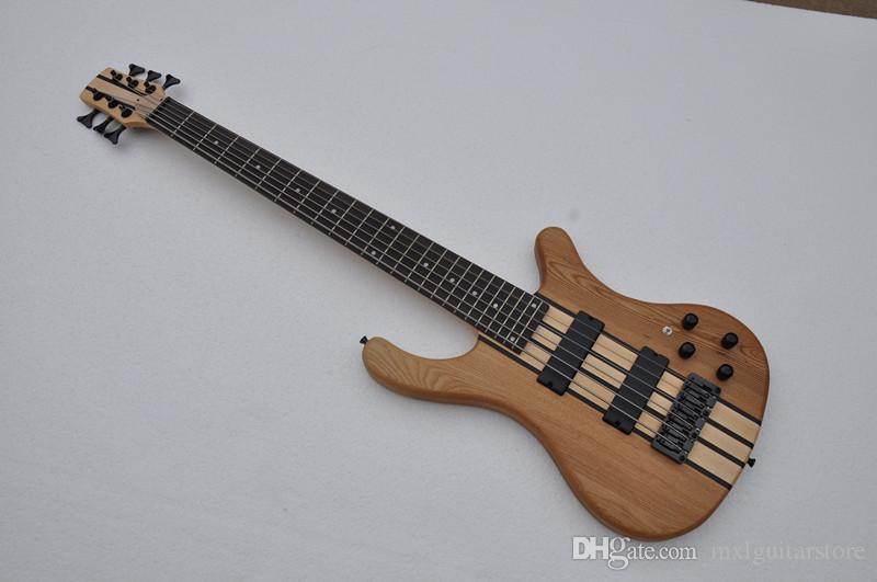 3 Pikaplar ile Fabrika özel Elm vücut Elektrik Bas Gitar, Siyah Donanımları, Gülağacı klavye, teklif özelleştirilmiş